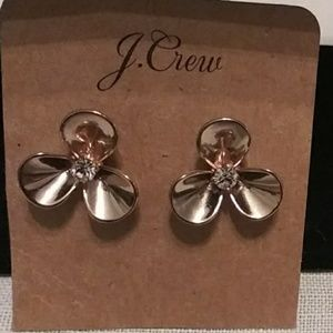 J Crew flowers shape earrings.